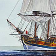 Lady Washington And Captain Gray Print by James Williamson