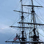 Lady Washington's Masts Print by Heidi Smith