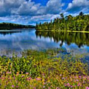 Lake Abanakee At Indian Lake New York Print by David Patterson