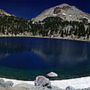 Lake Helen At Mt Lassen Triptych Print by Peter Piatt