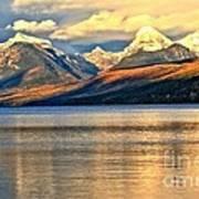 Lake Mcdonald Sunset Print by Adam Jewell
