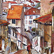 Laneways Of Nerac Print by Shirley  Peters