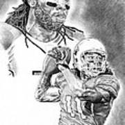 Larry Fitzgerald Print by Jonathan Tooley