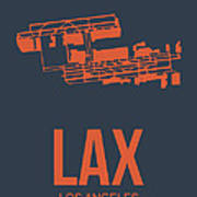 Lax Airport Poster 3 Print by Naxart Studio