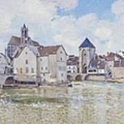 Le Pont De Moret Print by Alfred Sisley