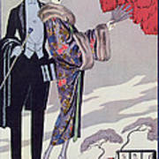 Leaving For The Casino Print by Georges Barbier