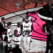 Lebron's 1st Ring Print by J Anthony