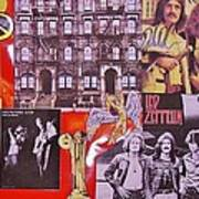 Led Zeppelin  Collage Number Two Print by Donna Wilson