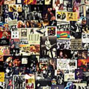 Led Zeppelin Collage Print by Taylan Soyturk