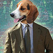 Legal Beagle Print by Nikki Smith