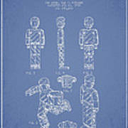 Lego Toy Figure Patent - Light Blue Print by Aged Pixel