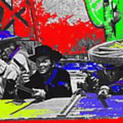 Leif Erickson Cameron Mitchell  Mark Slade Number 2 The High Chaparral Set Old Tucson Az 1969-2008 Print by David Lee Guss