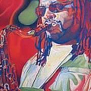 Leroi Moore Colorful Full Band Series Print by Joshua Morton