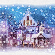 Let It Snow Print by Mo T