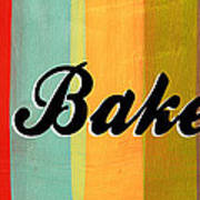 Let's Bake This Print by Linda Woods
