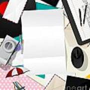Letter Collage Abstract Print by Richard Laschon