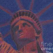 Liberty In Red Print by Stephen Cheek II