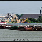 Life On The Ohio River 2 Print by David Lester
