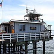 Lifeguard Headquarters On The Municipal Wharf At Santa Cruz Beach Boardwalk California 5d23828 Print by Wingsdomain Art and Photography