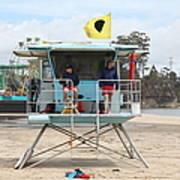 Lifeguard Shack At The Santa Cruz Beach Boardwalk California 5d23713 Print by Wingsdomain Art and Photography