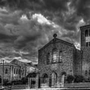 Light Above The Church Print by Marvin Spates