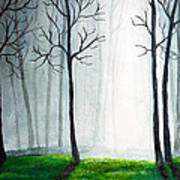 Light Through The Forest Print by Nirdesha Munasinghe
