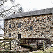 Lightfoot Mill At Anselma Chester County Print by Bill Cannon