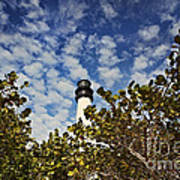 Lighthouse At Bill Baggs Florida State Park Print by Eyzen Medina