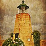 Lighthouse - La Coruna Print by Mary Machare