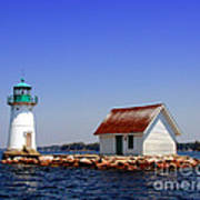 Lighthouse On The St Lawrence River Print by Olivier Le Queinec