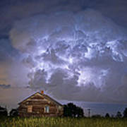 Lightning Thunderstorm Busting Out Print by James BO  Insogna
