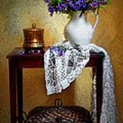Lilacs And Lace Print by Diana Angstadt