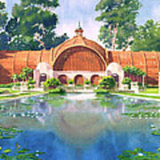 Lily Pond And Botanical Garden Print by Mary Helmreich