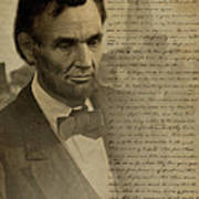Lincoln At Gettysburg Print by Ray Downing