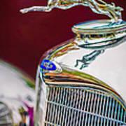 Lincoln Hood Ornament - Grille Emblem -1187c Print by Jill Reger