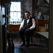 Lincoln In The Attic 2 Print by Ray Downing