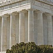 Lincoln Memorial Pillars Print by Susan Candelario
