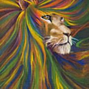 Lion Print by Kd Neeley