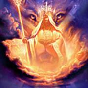 Lion Of Judah Print by Jeff Haynie