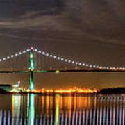 Lions Gate Bridge In Colour Print by Naman Imagery