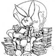 Literary Playboy Print by John Ashton Golden
