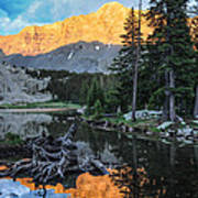 Little Bear Peak And Lake Como Print by Aaron Spong