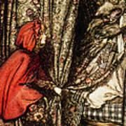 Little Red Riding Hood Print by Arthur Rackham