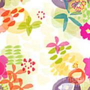 Little Watercolor Garden Print by Linda Woods