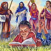 Living Bible Print by Tamer and Cindy Elsharouni
