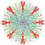 Lobster Mandala Print by Stephanie Troxell
