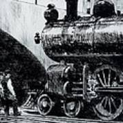 Locomotive Print by Edward Hopper