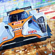 Lola Aston Martin Lmp1 Racing Le Mans Series 2009 Print by Yuriy  Shevchuk