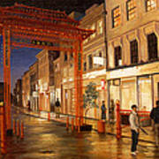 London Chinatown Print by Paul Krapf