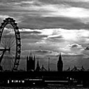 London Silhouette Print by Jorge Maia